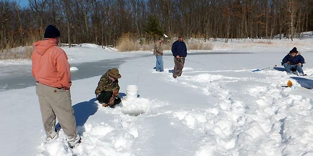 Philmont ice fishing